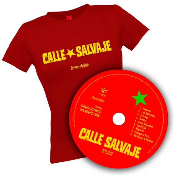 T-shirt-calle-salvaje_donna_rossa+CD