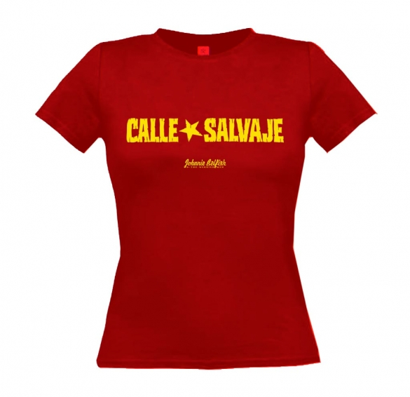 T-shirt-calle-salvaje_donna_rosso